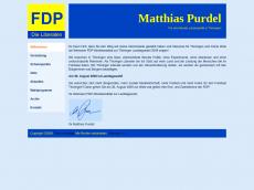 Screenshot der Domain purdel.de