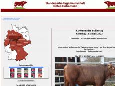 Screenshot der Domain rotes-hoehenvieh.de