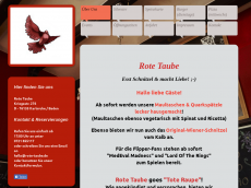 Screenshot der Domain rotetaube.com