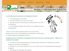 Screenshot der Domain roth-baudekoration.de