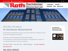 Screenshot der Domain roth-dachdecker.de