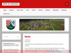 Screenshot der Domain roth-hunsrueck.de
