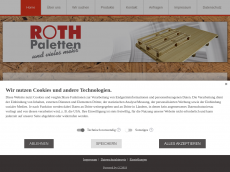 Screenshot der Domain roth-paletten.de