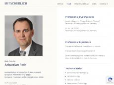 Screenshot der Domain roth-patent.de