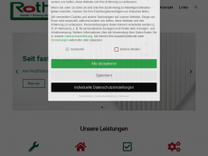 Screenshot der Domain roth-sanitaer.de