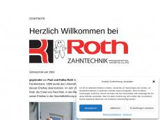 Screenshot der Domain roth-zahntechnik.de