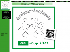 Screenshot der Domain rothaar-laufserie.de