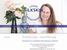 Screenshot der Domain silkskin.de