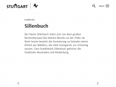 Screenshot der Domain sillenbuch.de