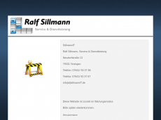 Screenshot der Domain sillmannit.de