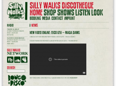 Screenshot der Domain sillywalksdisco.com