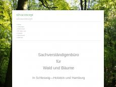 Screenshot der Domain silvaconcept.de