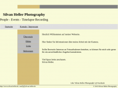 Screenshot der Domain silvan-heller.de