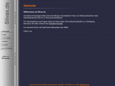 Screenshot der Domain silvax.de