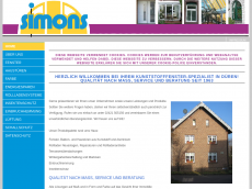Screenshot der Domain simons-fensterbau.de
