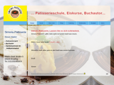 Screenshot der Domain simons-patisserie.de