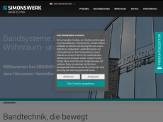 Screenshot der Domain simonswerk.de
