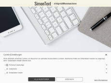 Screenshot der Domain simontext.de