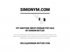 Screenshot der Domain simonym.com