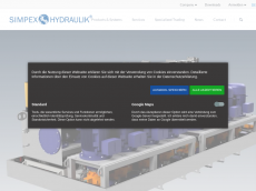 Screenshot der Domain simpex-hydraulik.de