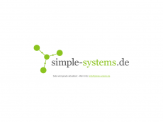 Screenshot der Domain simple-systems.de