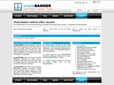 Screenshot der Domain simplebanner.de
