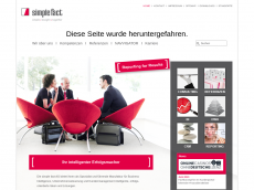Screenshot der Domain simplefact.de