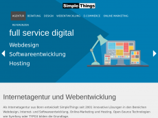 Screenshot der Domain simplemachines.de