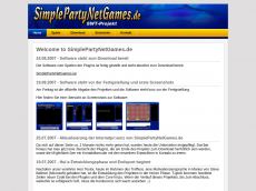 Screenshot der Domain simplepartynetgames.de