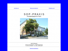 Screenshot der Domain sop-praxis.de