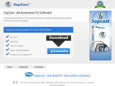 Screenshot der Domain sopcast.de