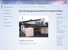 Screenshot der Domain sophia-kirche.de