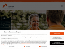 Screenshot der Domain sophia-suedbayern.de