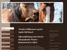 Screenshot der Domain sophie-hill-ranch.de