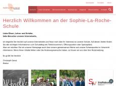 Screenshot der Domain sophie-la-roche-schule.de