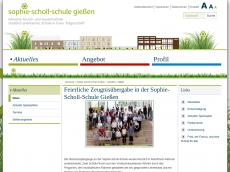 Screenshot der Domain sophie-scholl-schule-giessen.de