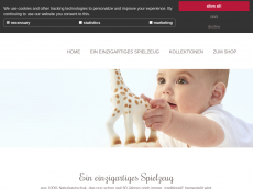 Screenshot der Domain sophielagirafe.de