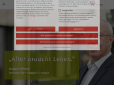 Screenshot der Domain sophien-stift.de