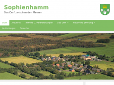 Screenshot der Domain sophienhamm.de