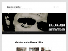 Screenshot der Domain sophieshenker.de