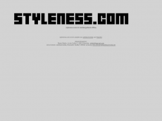 Screenshot der Domain styleness.com