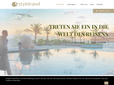 Screenshot der Domain styletravel.de