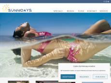 Screenshot der Domain sunnidays.de