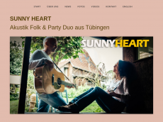 Screenshot der Domain sunny-heart.de