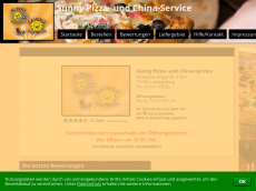 Screenshot der Domain sunny-pizza.de