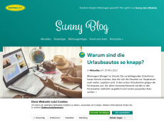 Screenshot der Domain sunnycars-blog.de