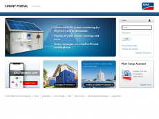 Screenshot der Domain sunnyportal.com