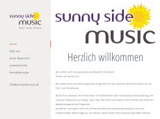 Screenshot der Domain sunnysidemusic.de
