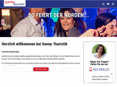 Screenshot der Domain sunnytouristik.de