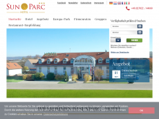 Screenshot der Domain sunparc-hotel.de
